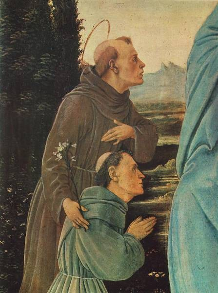 Madonna with Child St Anthony of Padua and a Friar before 1480 detail1